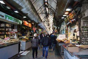 Mahane yehuda, matmarknad i västra Jerusalem.
