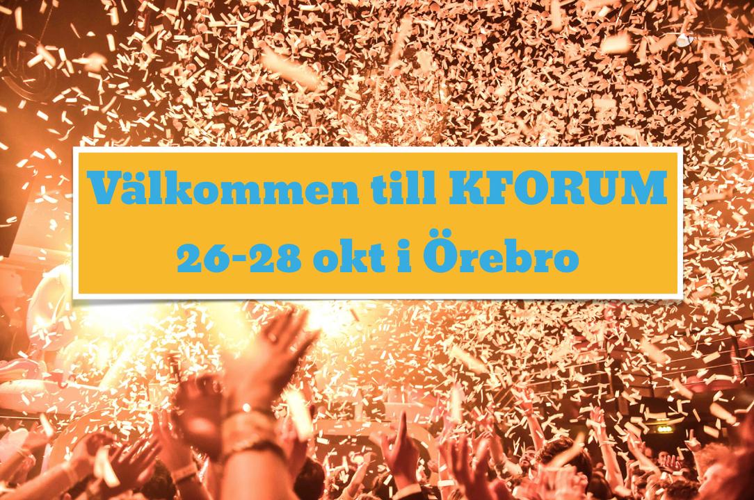Välkommen till KFORUM 2018!
